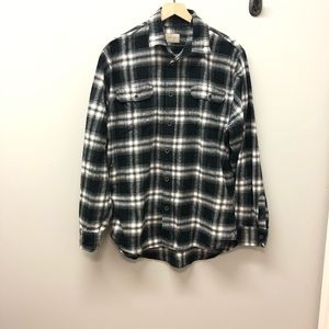 Jachs white and black flannel in Large Tall size